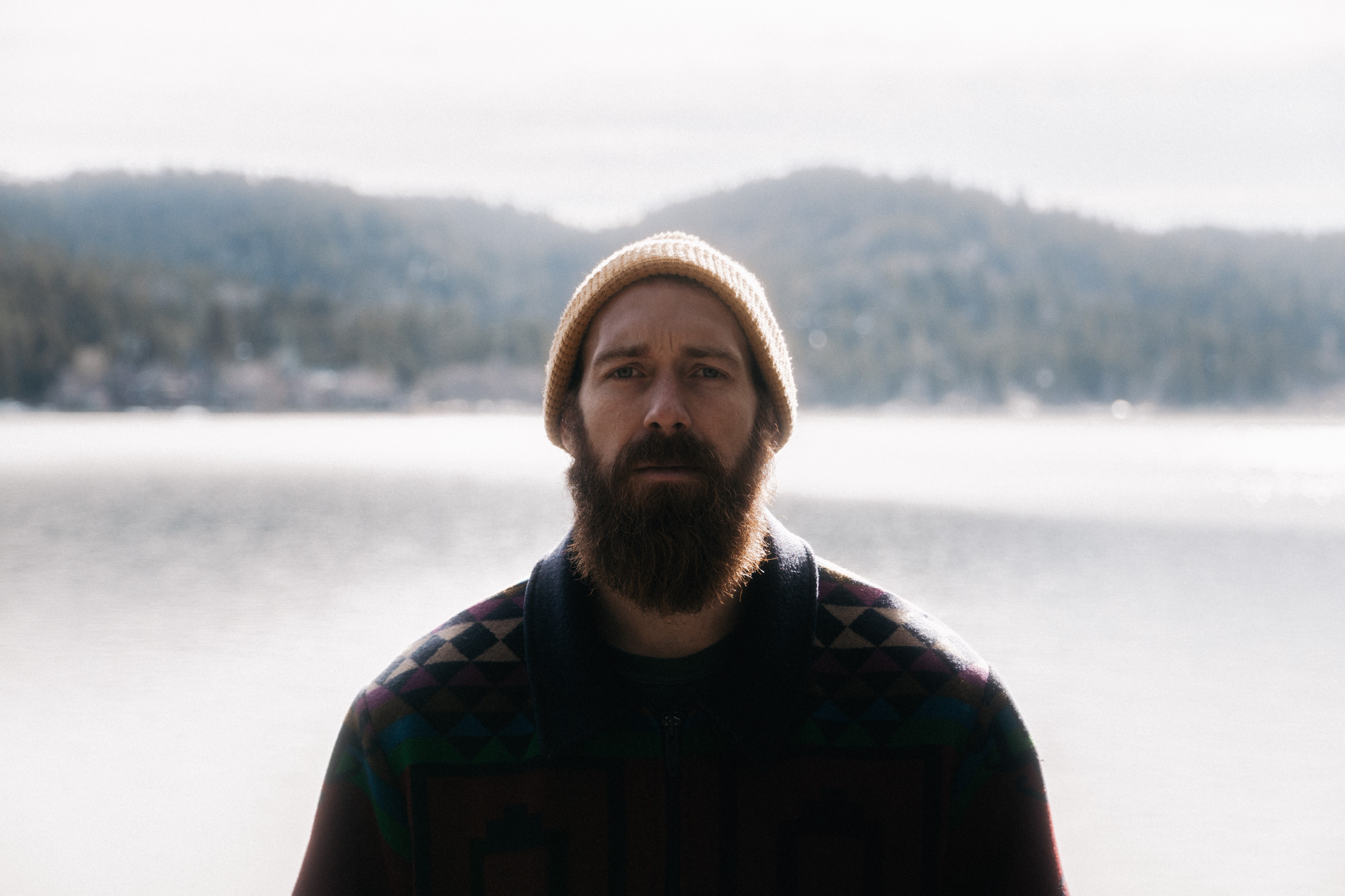 bearded guy with a beanie hat