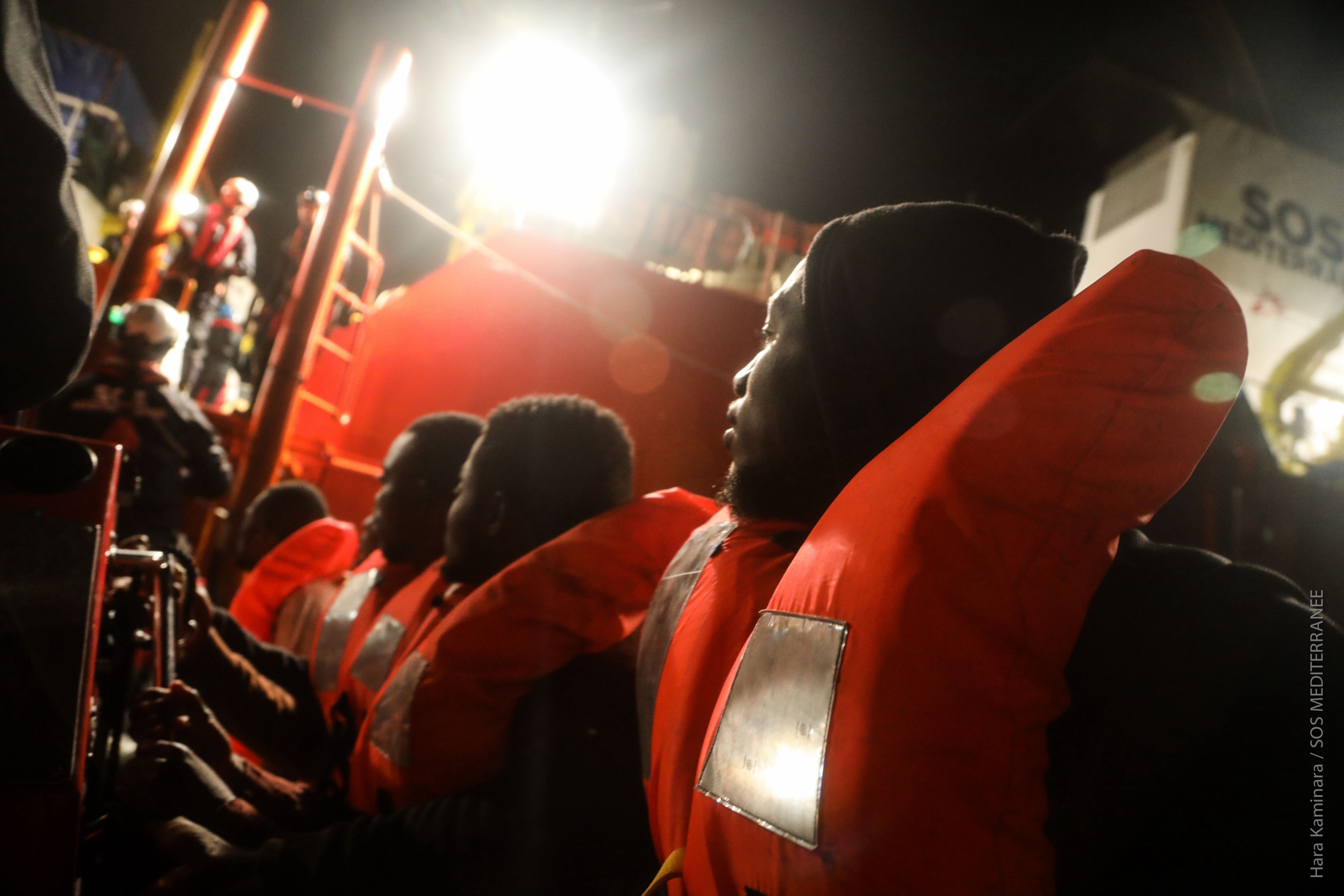 I worked onboard the Aquarius search and rescue ship earlier