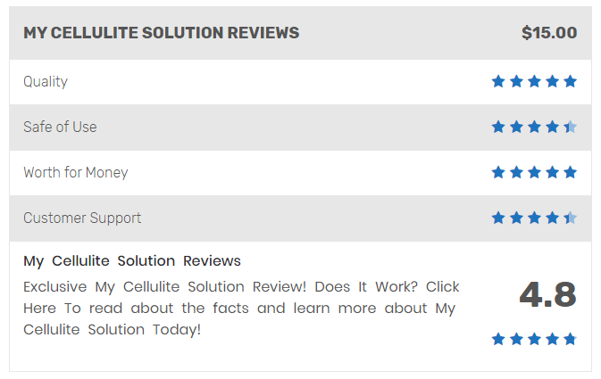 Gavin Walsh My Cellulite Solution Reviews By Hattie J Wofford