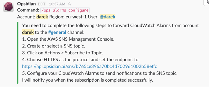 How to crush your AWS monitoring with Slack - Opsidian - Medium