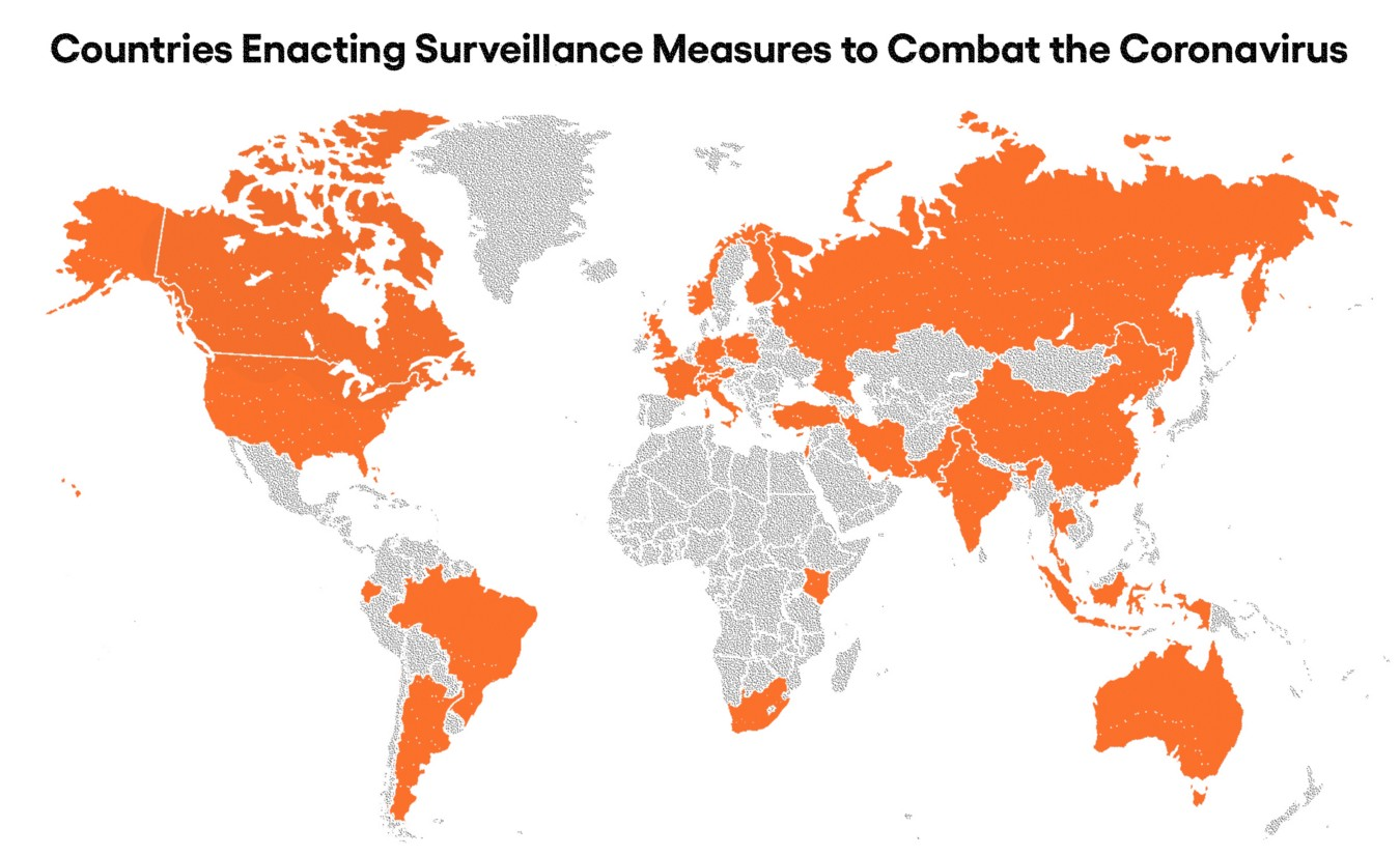 governments increasing surveillance using Corona as cover