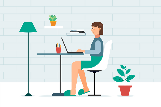 Women working from Home Illustration ID 2107792