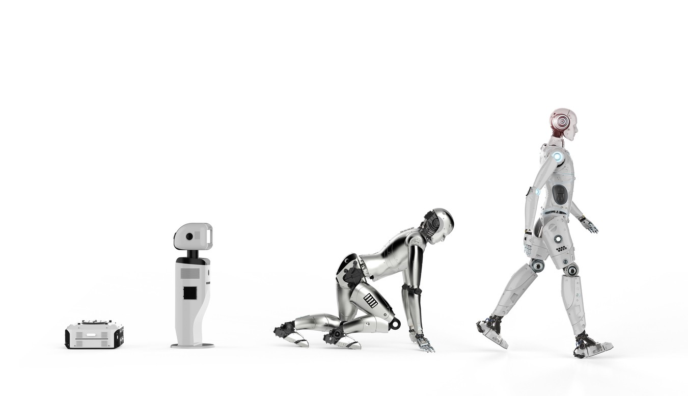 robot learning to walk