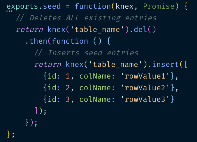 Seeding your Database with Thousands of Users using Knex js