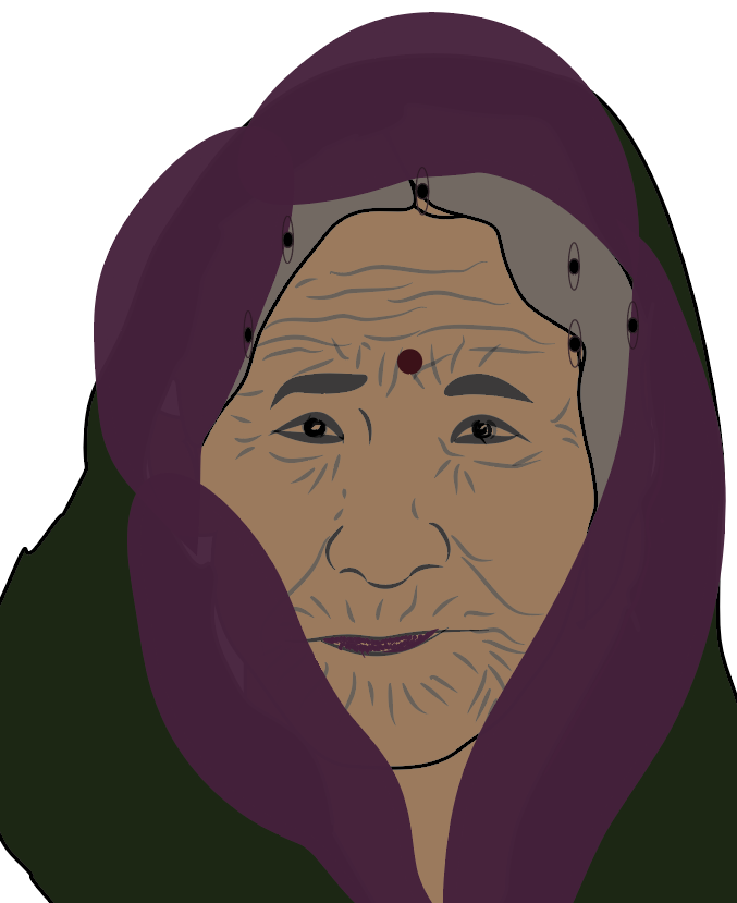 The old mysterious lady