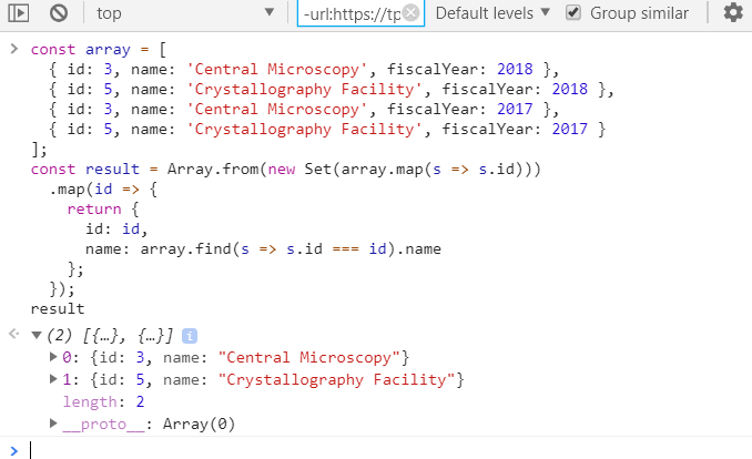 JavaScript Array Distinct() - codeburst