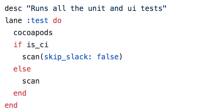 Learning Ruby for the first time because of fastlane