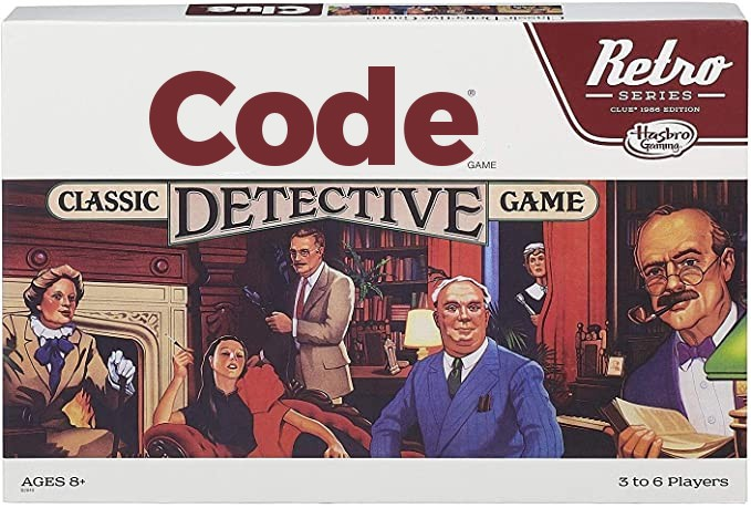 Favorite game growing up was Code…I mean Clue.