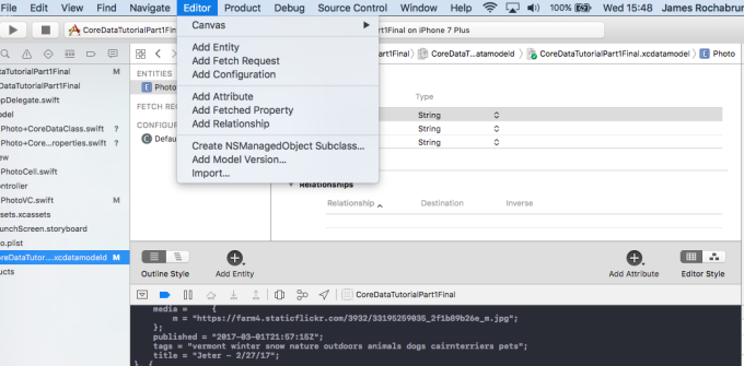 Parsing JSON response and save it in CoreData, step by step
