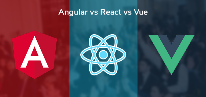A banner showing the logos for Anguar, React, and Vue.