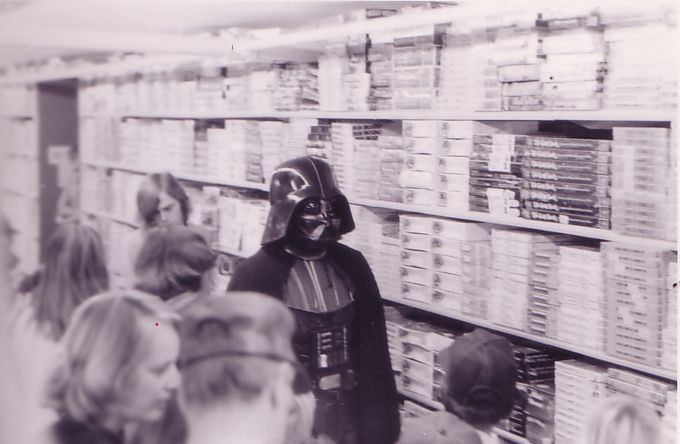 Darth Vader: Star Wars Visits Toy's R Us In Torrance, CA, Fall 1977