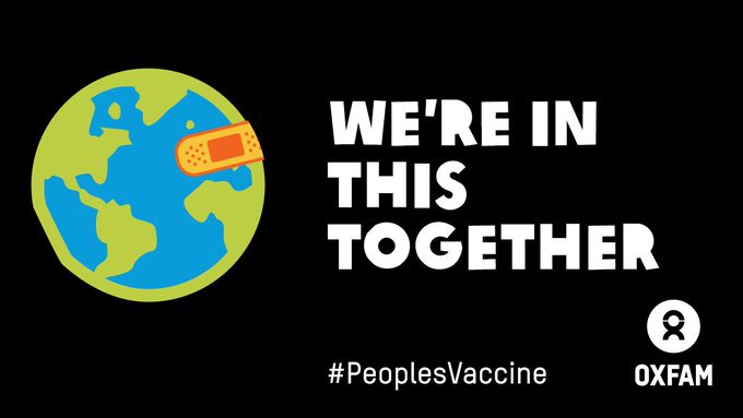 Graphic: Oxfam calls for COVID19 vaccine to be free for all people, everywhere.