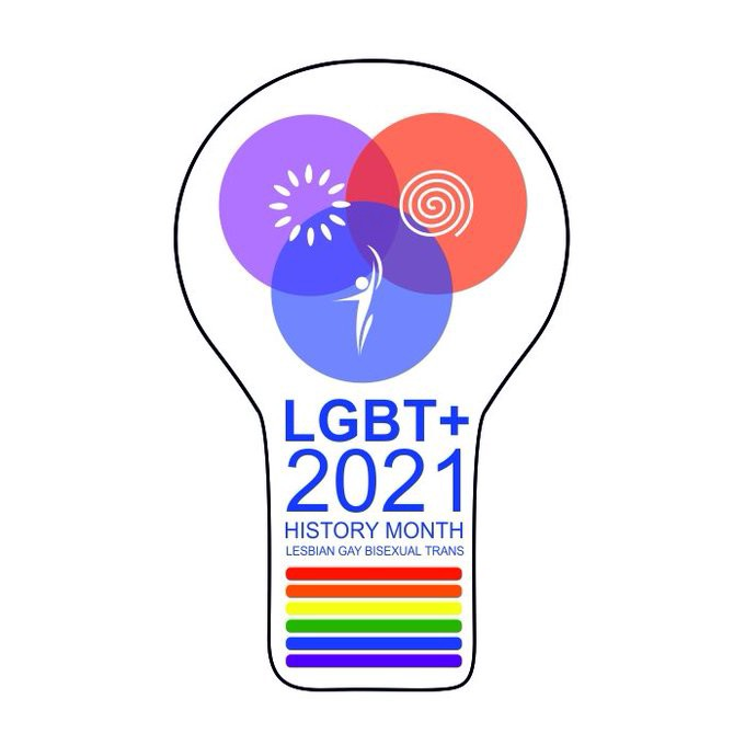 The logo for LGBT+ History Month 2021