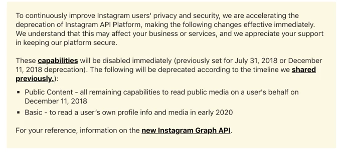Recent Instagram API Changes Impacting User-Generated