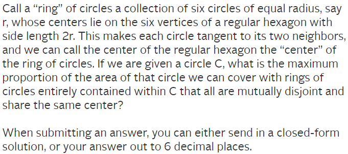 The problem, found here: https://www.janestreet.com/puzzles/circle-time/