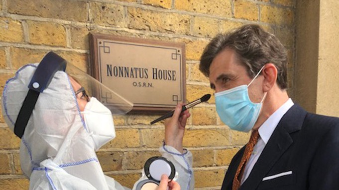 BBC/Neal Street: on the Covid-safe set of Call The Midwife