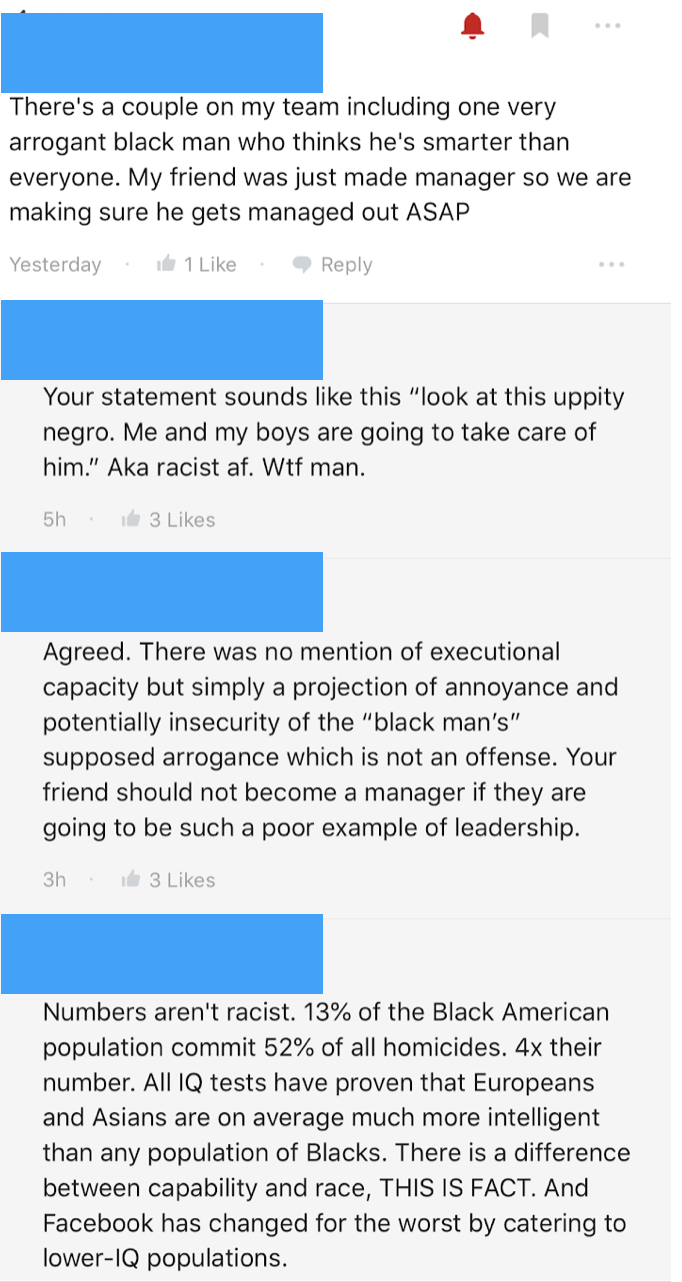 Facebook Empowers Racism Against Its Employees of Color