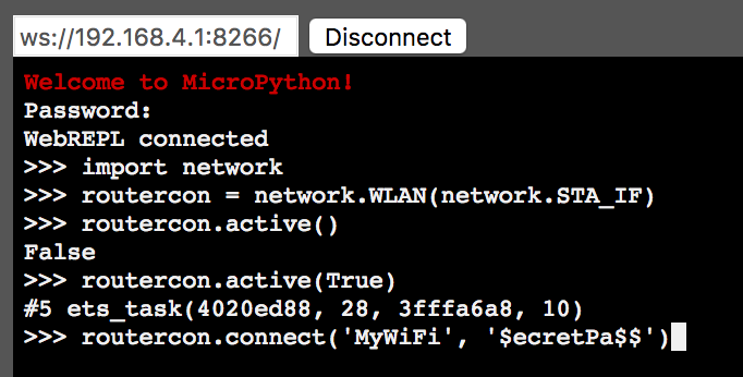 MicroPython & ESP8266 Quick Start (Part 4): Connect to WiFi