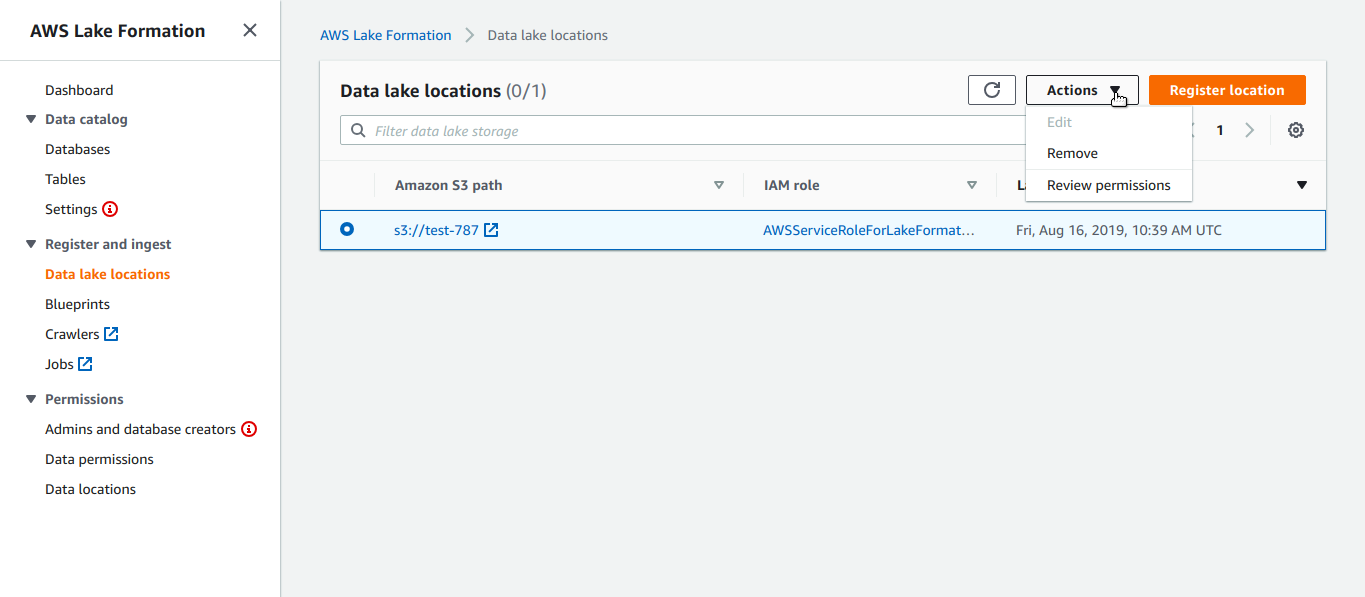Setting Up a Data Lake on AWS Cloud Using LakeFormation
