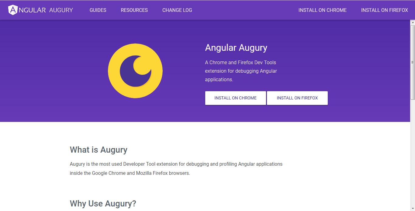 Augury home page