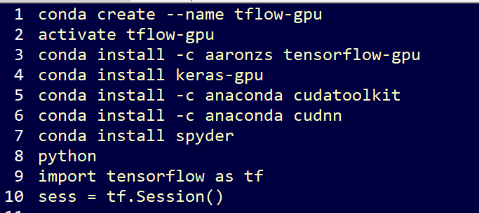 Setup Tensor flow and Keras with GPU support on Windows PC