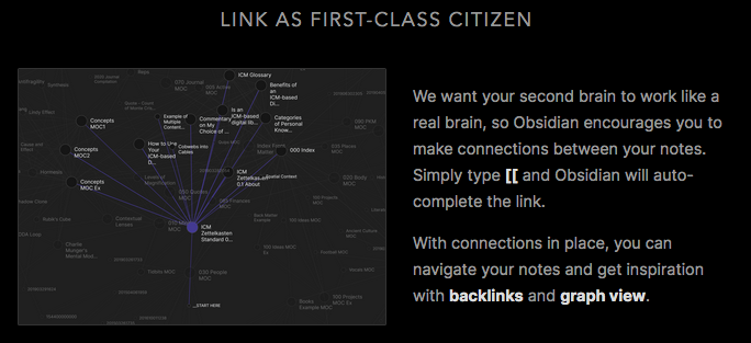 Obsidian note-taking app focuses on connecting notes
