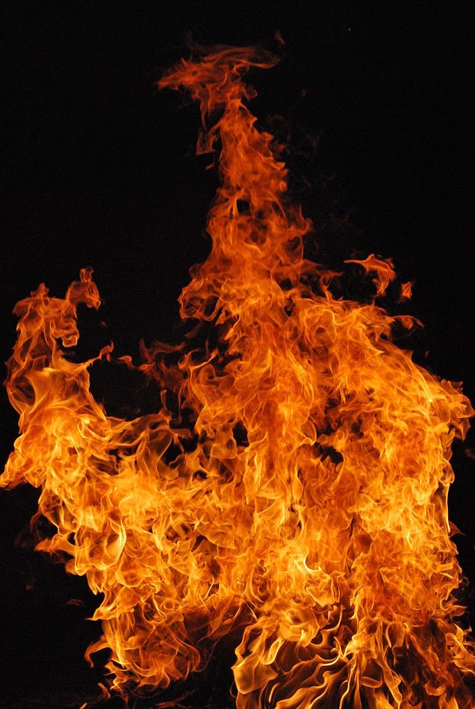Photo of fire from Wiki Commons