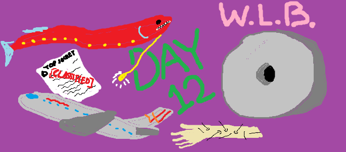 A poorly made MS Paint image depicting items from the article