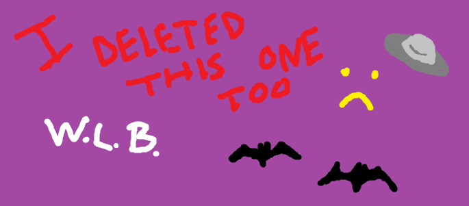 A banner with text explaining that I accidentally deleted the original picture