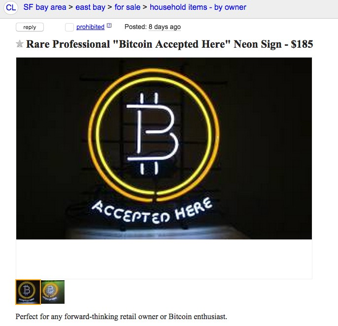Nakamoto's Store: Now with a Neon Bitcoin Sign — bought with Bitcoins!