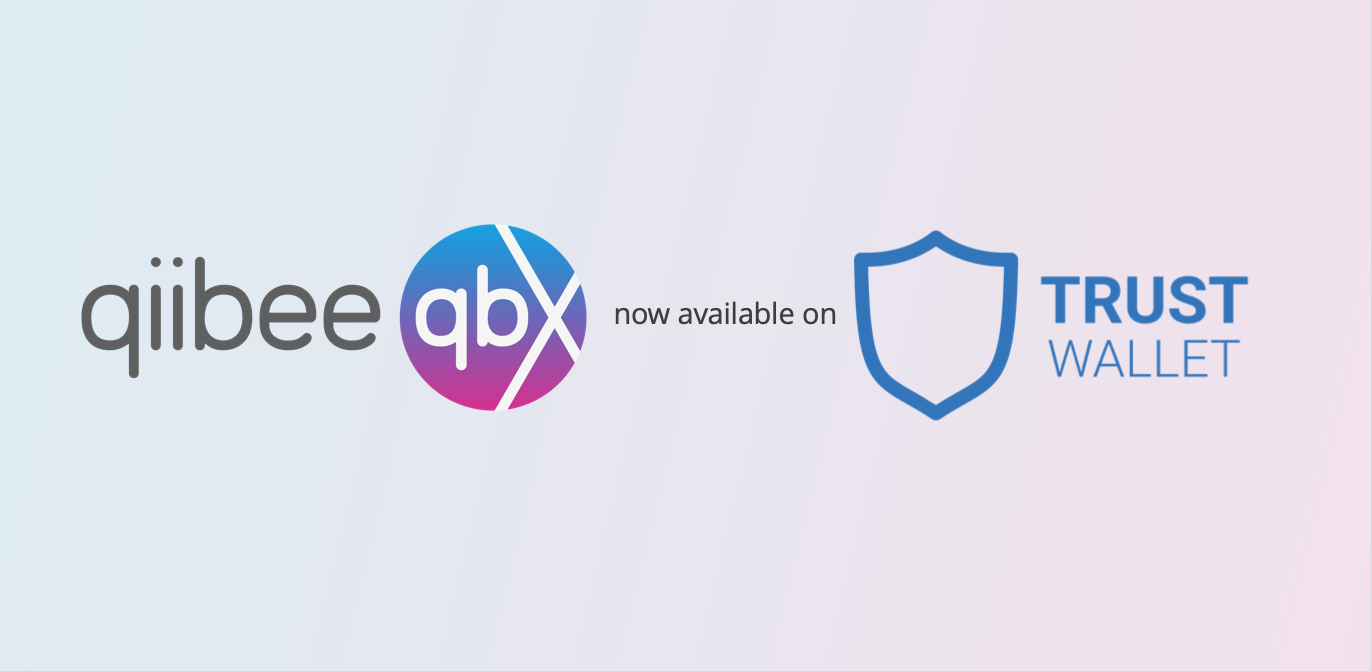 QBX now available on Trust Wallet - qiibee