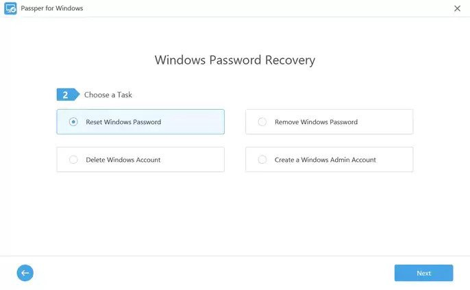 Passper WinSenior Windows Password Reset Tool