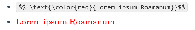 You can use \text{} either within or outside other functions.