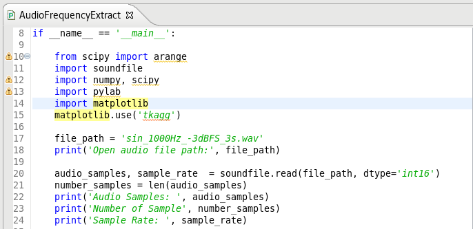 Tone Frequency detection from an audio file by Python