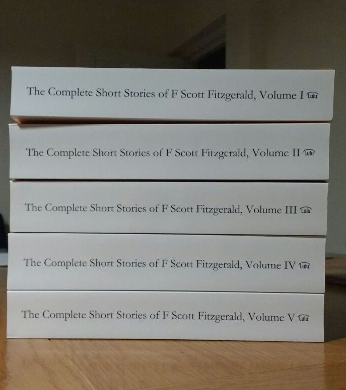 Pile of the Complete Short Stories of F. Scott Fitzgerald (first run)