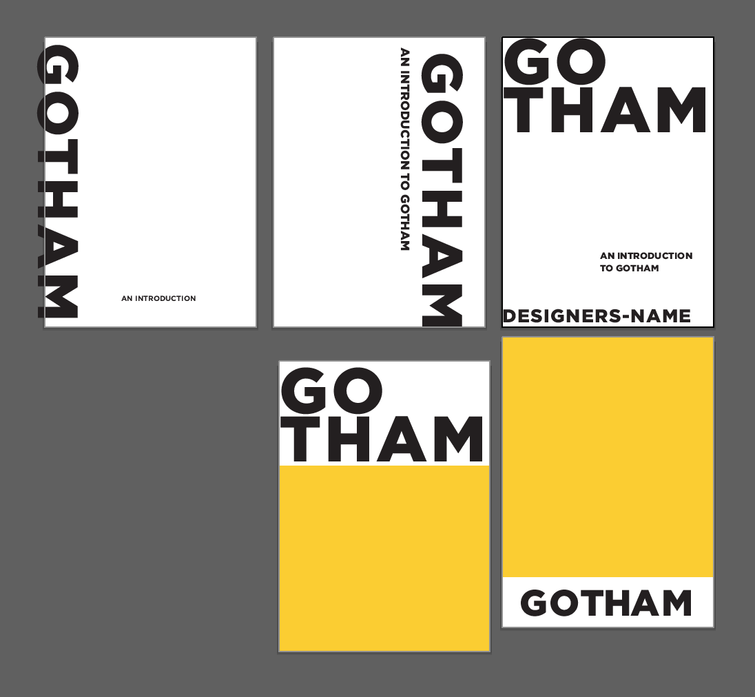 Case Study: Gotham Type Specimen - Noteworthy - The Journal Blog
