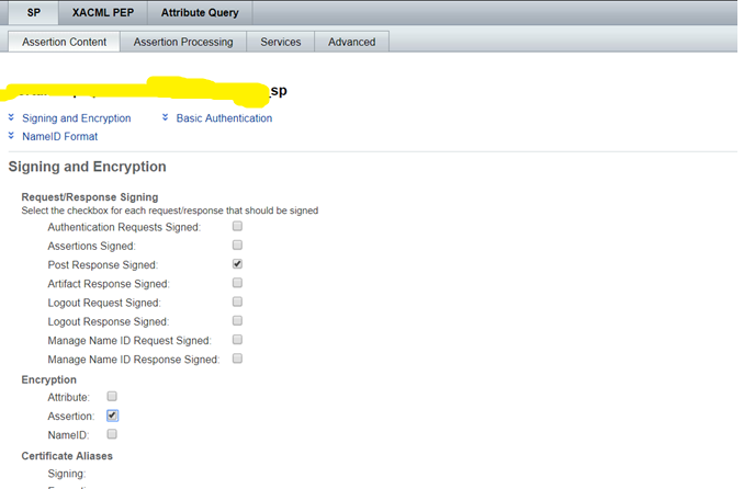 Single Sign On : OpenAM SAML Response Signed and Assertion Encrypted