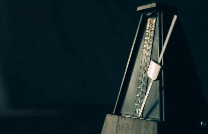 An old-fashioned metronome
