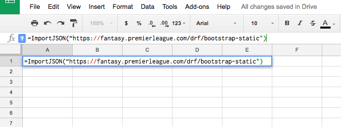 Using APIs & Google Sheets To Assess Fantasy Premier League Prospects