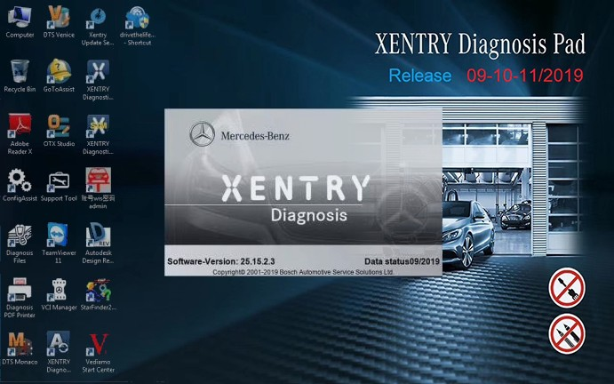V2019 9 MB SD Connect C4/C5 Software Mercedes Star Diagnosis