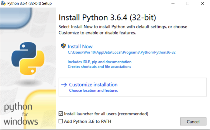 How to install Python 2 7 and 3 6 in Windows 10 [add python PATH]