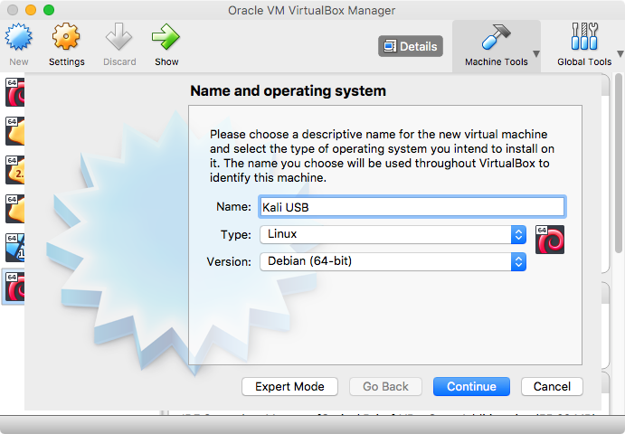 How to install Kali on a USB stick with pure EFI boot on a Mac (and
