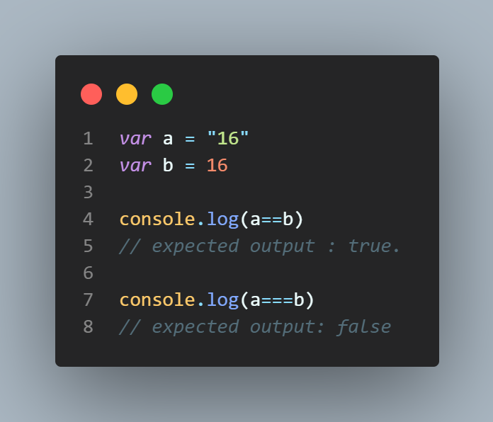 comparing variables