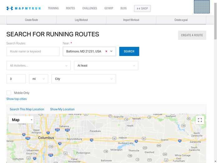 Mapping Physical Activity by Webscraping MapMyRun com with Selenium in R