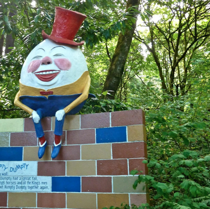 The amusement park Storybook Land in Oregon.