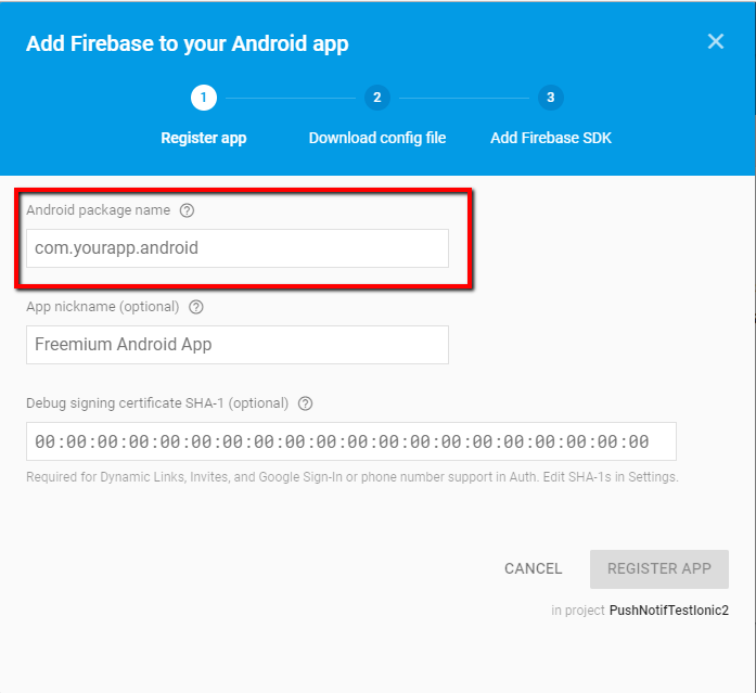 Managing push notifications with Ionic2 and Firebase