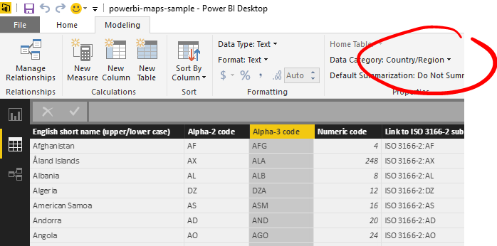 How-To: Display 2-letter country data on a Power BI map