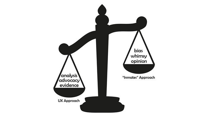 An image illustrating the differences between using analysis, advocacy, and evidence vs. bias, whimsy, and opinion