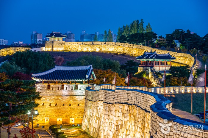 Suwon Hwaseong Fortress was registered as a World Cultural Heritage site by UNESCO in 1997.
