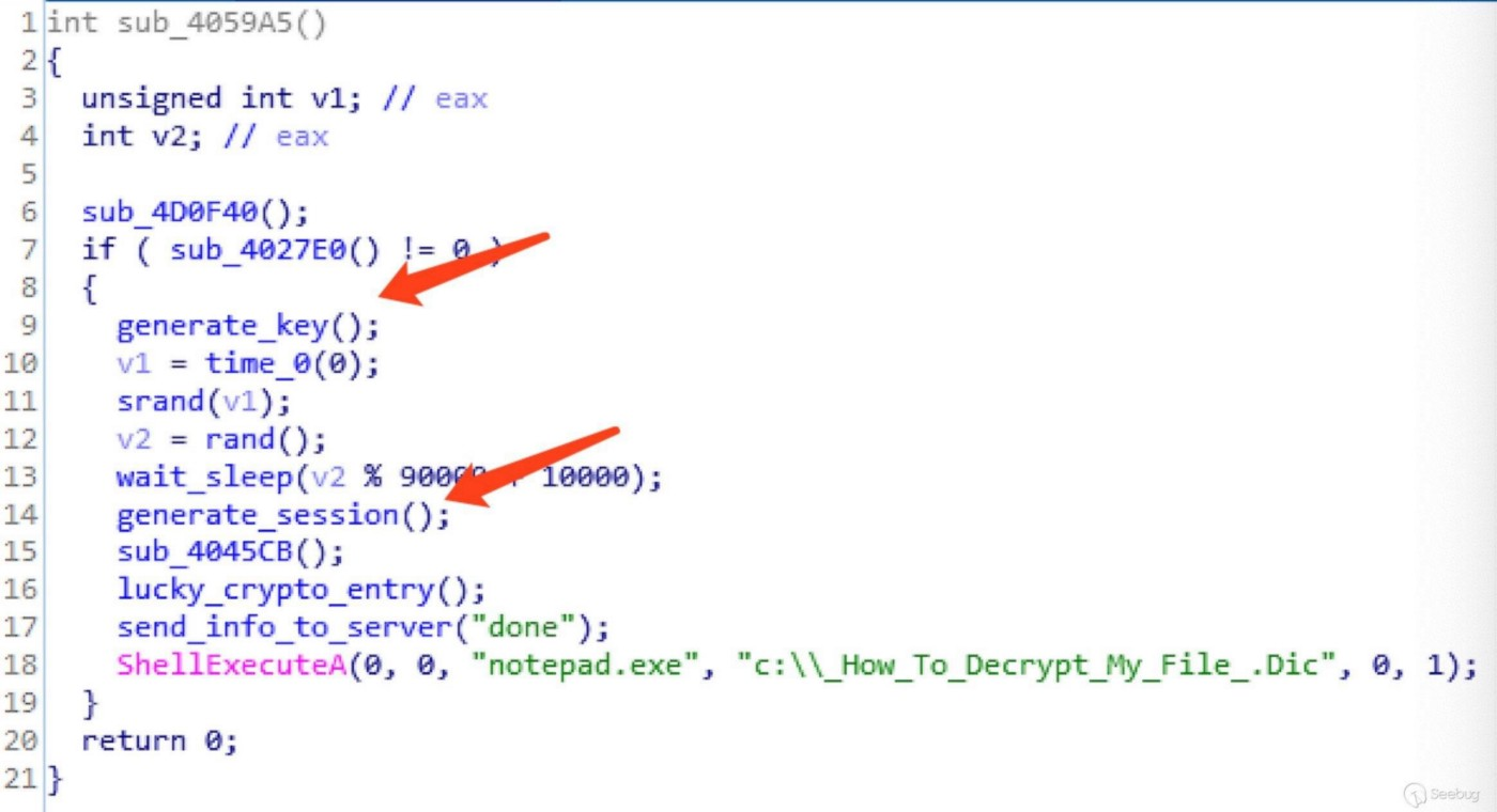 Lucky Ransomware Analysis and File Decryption - Knownsec 404 team